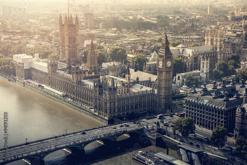 Poster London London city aerial view