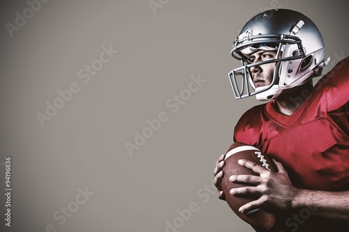 Tablou Canvas Composite image of american football player