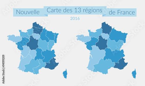 Fotomural Nouvelle_Carte_13_Régions_France_2016