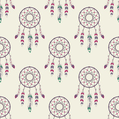FototapetaVector seamless pattern with dream catchers