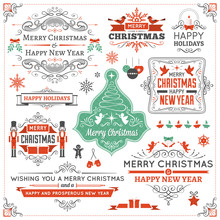 Large Collection Of Christmas Design Elements