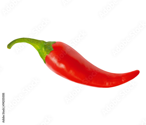 Spoed Foto op Canvas Hot chili peppers One red hot chili pepper, with clipping path