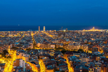 Obraz Panoramic view of Barcelona
