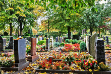 Graveyard In Autumn, Germany