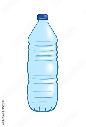 Fotografia, Obraz  Vector image of a plastic water bottle