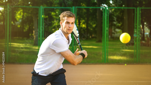 фотография  Concept for male tennis player