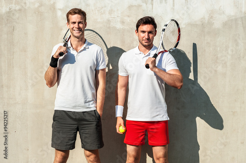 Concept for male tennis players Billede på lærred