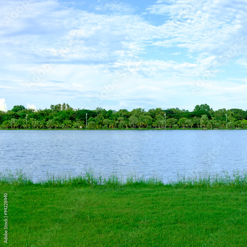 Deurstickers Groene City park at Bung Ta Lua Water Park Nakhon Ratchasima, Thailand