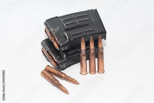 Canvastavla Magazine with 7.62 x 54R bullets for SVD (Dragunov)