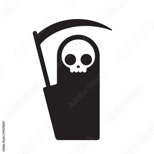 Photo grim reaper illustration