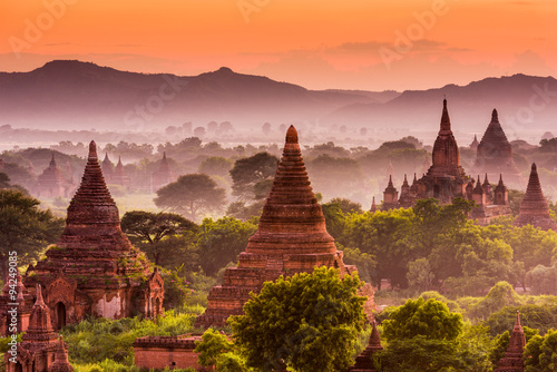 Bagan Archeological Zone Wallpaper Mural