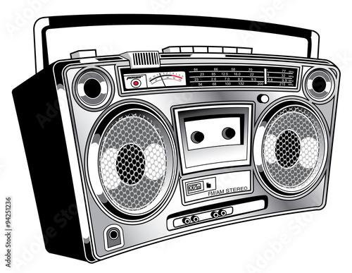 Fotografia  Boom Box radio