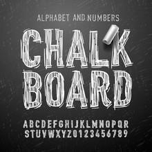 Chalk Alphabet Letters And Num...