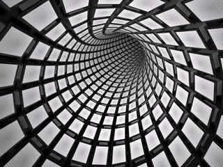 fototapeta 3D tunel kostki