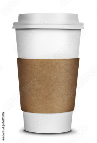 Valokuva Coffee Cup Isolated