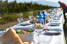 Festive Table During The Holiday Of Grape Harvest - Rtveli, Georgia