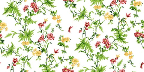 Fototapeta Do sypialni Echo Floral Seamless Pattern