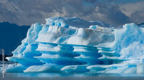 Poster Glaciers Icebergs in the water, the glacier Perito Moreno. Argentina. An excellent illustration.