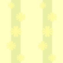 Seamless Pattern, Vertical Yellow, Green Floral Wallpaper, Pastel, Vector, For Girls, Boys