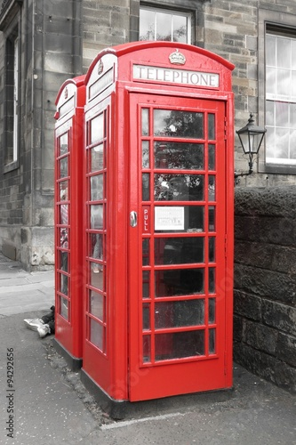 Red phone booth - Buy this stock photo and explore similar