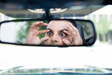 Sleepy Driver Reactions In Rearview