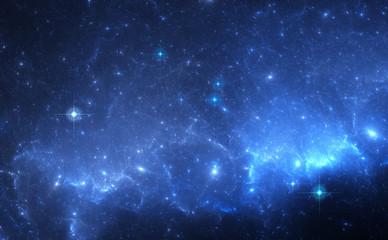 Blue Nebula in Deep Space