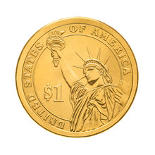 One Dollar Coin - Statue Of  L...