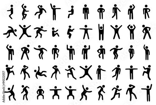 Fotografia  50 stick figure set