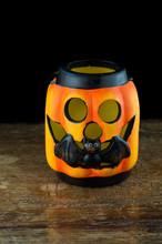 Zucca Di Halloween Primo Piano...