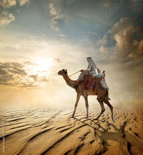 Foto auf Leinwand Wuste Sandig Journey through desert