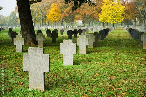 Foto op Canvas Begraafplaats Soldatenfriedhof
