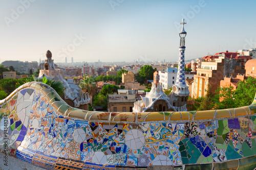 Papiers peints Barcelona park Guell, Barcelona