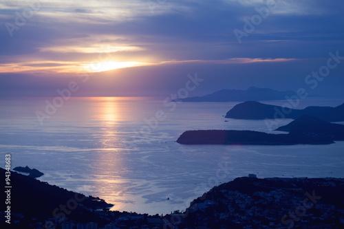 Foto op Aluminium Strand Sunset in Dubrovnik