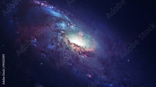 Obraz Awesome spiral galaxy many light years far from the Earth. Elements furnished by NASA - fototapety do salonu