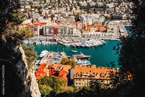 Spoed Foto op Canvas Nice Port of Nice, French Riviera - 17/10/2015, Nice, France