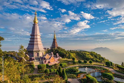 Sunset at Doi Inthanon - Chiang mai Thailand Wallpaper Mural