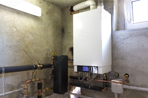Fotografia, Obraz Caldaia a gas a condensazione