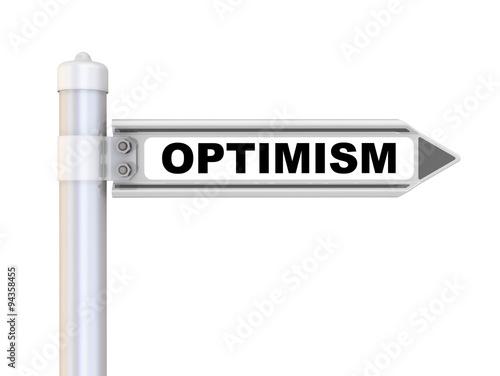 Fotografia  Optimism. Road sign
