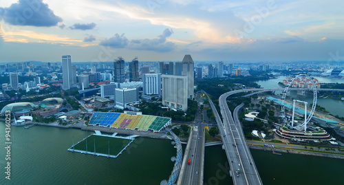 Tuinposter Singapore View of Singapore from a height