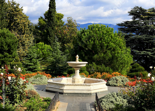 Autocollant pour porte Fontaine Italian fountain
