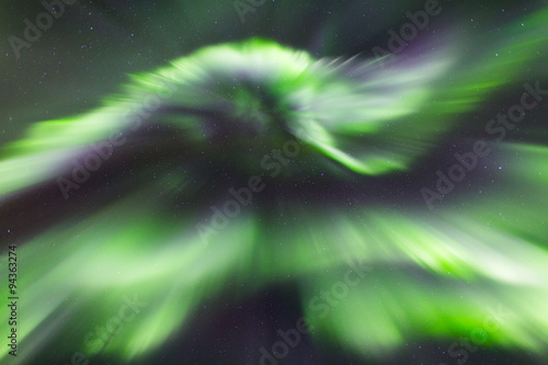 Photo  aurora dance at nightsky
