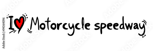 Fotografía Motorcycle speedway love