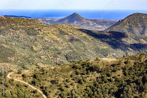 Fototapeten Natur Ulassai, provincie Ogliastra op Sardinië