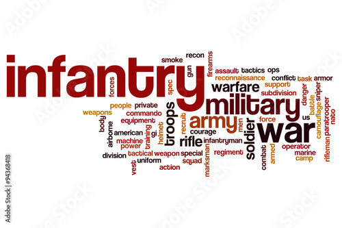 Fotografía  Infantry word cloud concept