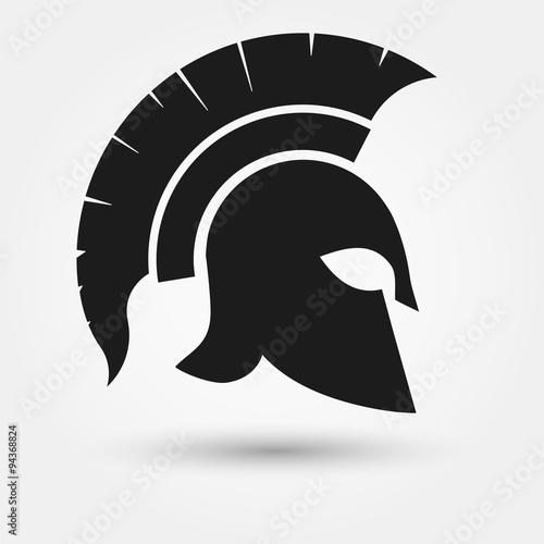 Obraz na plátně Spartan warrior Helmet