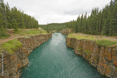 Printed kitchen splashbacks River Fast Moving Water in a Remote Canyon