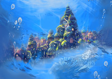 Illustration: Sea City. Realis...