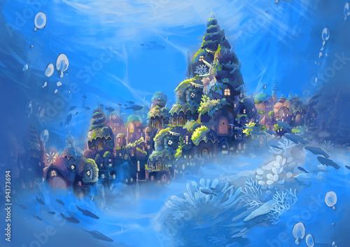 Fotografia Illustration: Sea City