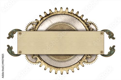 In de dag Retro Metal frame and clockwork details