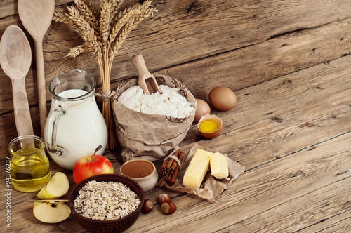 baking ingredients - Buy this stock photo and explore